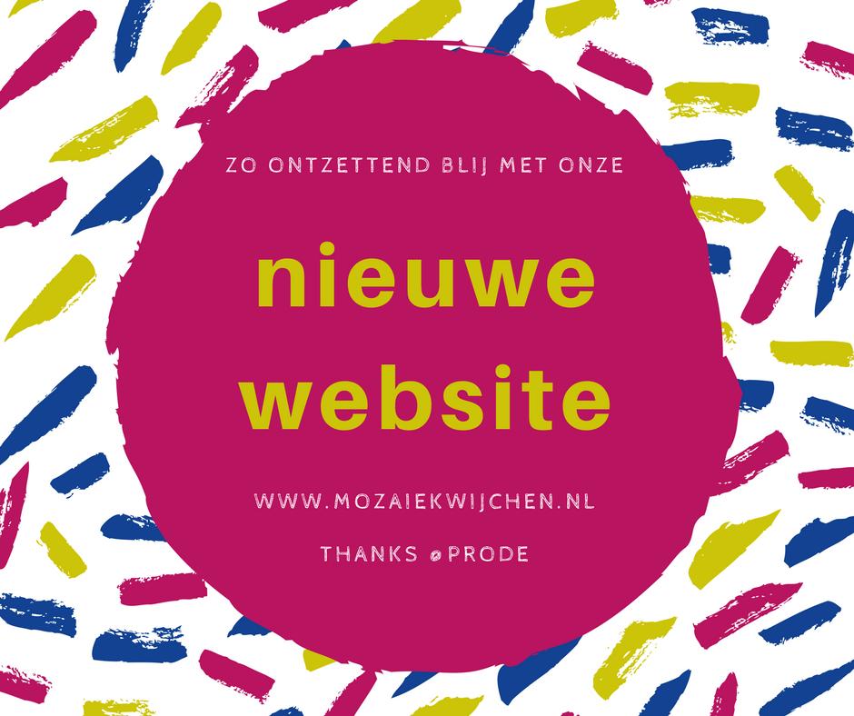 Nieuwe website FB bericht - Mozaiek